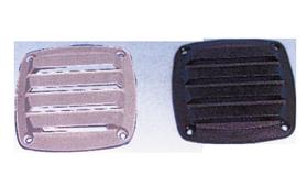 allpa Kunststof Ventilatierooster  85x85mm  zwart