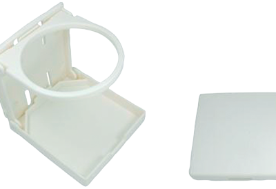 allpa Kunststof drankhouder klapbaar A=104mm B=98mm C=94mm wit