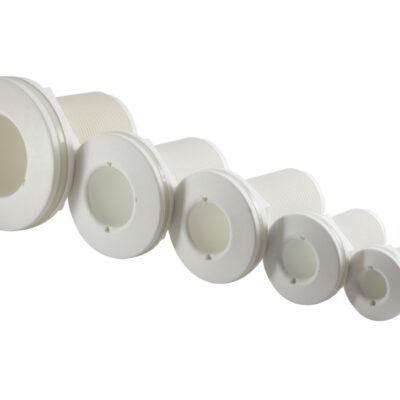 allpa Kunststof huiddoorvoer  1-1/2  met buitendraad  wit