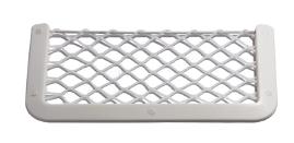 allpa Kunststof opbergvak  wit  met wit elastisch net  afm. 180x365mm