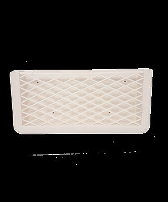 allpa Kunststof opbergvak  wit  met wit elastisch net  afm. 270x115x32mm