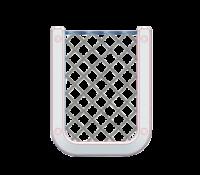 allpa Kunststof opbergvak  wit  met zwart elastisch net  afm. 126x98mm