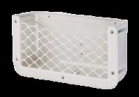 allpa Kunststof opbergvak  wit  met zwart elastisch net  afm. 370x185x100mm