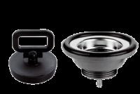 allpa Kunststof rechte afvoer  1-1/4  met RVS zeef & rubber stop