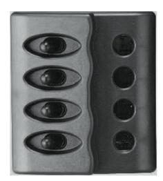 allpa Kunststof schakelpaneel  12V  4-schakelaars  géén zekeringen met LED-indicators