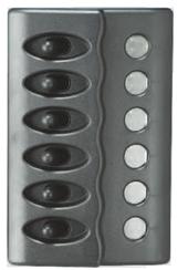 allpa Kunststof schakelpaneel  12V  6-schakelaars  géén zekeringen met LED-indicators