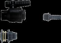 allpa Kunststof slangpilaar 90º  3/8 x 12mm  recht