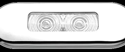 allpa LED-Loopverlichting kunststof inbouw met RVS raam 12V/0 21W LED 2x 0 2W 86x31mm