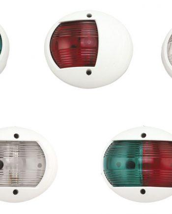 allpa LED-Positielantaarn  8-30V  LED 1W  2x 112 5°  2NM  wit kunststof huis  rode/groene lens