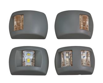allpa LED Positielantaarn  heklicht  12V / 0 6W  225°  zwart kunststof huis met witte lens