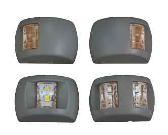 allpa LED Positielantaarn  stuurboord  12V / 0 6W  112.5°  zwart kunststof huis met groene lens