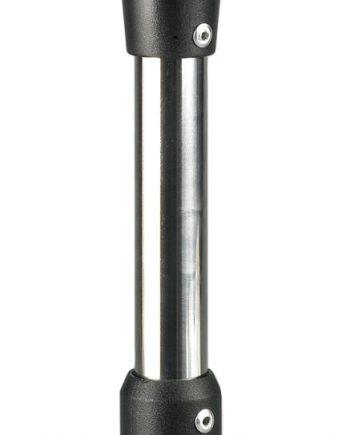 allpa LED Rondschijnend toplicht  12V  360º  LED 1x 0 5W  zwart huis met heldere lens  H=635mm