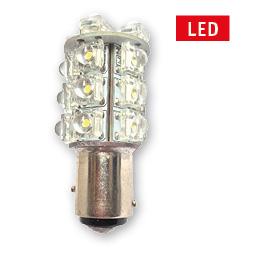 allpa LED-Vervangingslamp (BAY15D+)  12V-2 5W  H=56 2mm  Ø25mm  (vervangt 25W navigatielicht)