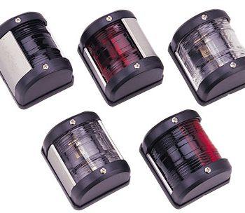 allpa LED-positielantaarn  2-kleuren  12V  LED 0 54W  zwart kunststof huis met rode / groene lens