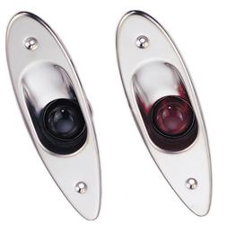 allpa LED positielantaarnset voor bak-/stuurboord  zij-inbouw  12V/6W  RVS huis met rode/groene lens