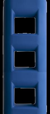 allpa Ladderfender 3-treeds 250x120x750m 4 0kg blauw