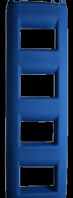 allpa Ladderfender 4-treeds 250x120x950m 5 0kg blauw