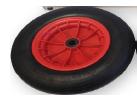 allpa Los wiel (velg & band) voor transportwielenset Ibis max. 150kg (069305)