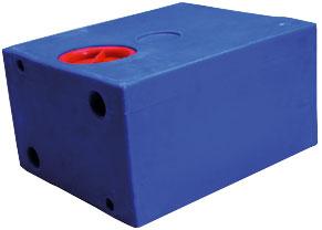 allpa Losse polyethyleen vuilwatertank rechthoekig 78l 700x400x300mm