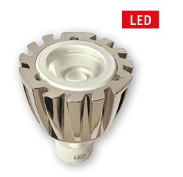 allpa MR11 LED-vervangingslamp  met aluminium huis  Ø25mm  L=38mm  1x1W  12V  high-power LED
