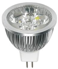 allpa MR16 LED-vervangingslamp  4x1W  12V (vergelijkbaar met 10-15W Gloeilamp) warm wit  dimbaar