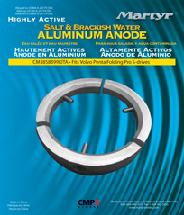 allpa Magnesium Anode kit Volvo folding Prop 3-blads