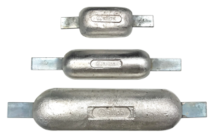 allpa Magnesium Anode lasstrip 390x80x290x40mm (1 3kg)