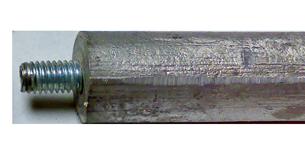 allpa Magnesium anode (L=240mm) voor allpa scheepsboiler 19  20  22 & (30 l-2009)