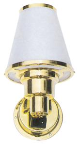 allpa Messing Interieurlamp  wandmontage  12V / 10W  voetplaat Ø76mm  met schakelaar