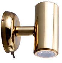 allpa Messing LED-Wand / Leeslamp (mini)  2-zijdig  8-30V/1 2W  LED 2x 1W  H=73mm