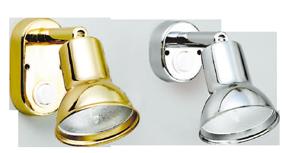 allpa Messing Leeslamp  halogeen  wandmontage  verstelbaar  12V / 10W  met schakelaar