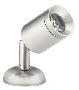 allpa Messing-Verchroomd LED-Wand / Leeslamp (mini)  8-30V/1 2W  LED 1x 1W  H=84mm