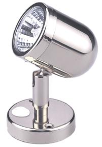 allpa Messing-Verchroomde LED-Wand / Leeslamp (mini)  12V  LED 12x 5Ø  H=109mm