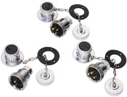 allpa Messing-verchroomde waterdichte connector 5A 2-pins compleet met deksel