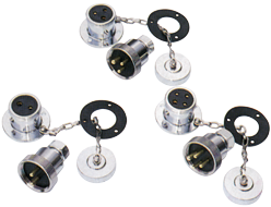 allpa Messing-verchroomde waterdichte connector 5A 3-pins compleet met deksel