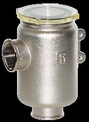 allpa Messing-vernikkeld koelwaterfilter met RVS 316 zeef  3/8  H=105mm  1800l/u