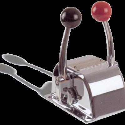 allpa Motorbediening S  TWIN  topmontage  enkelwerkende twee-handel control