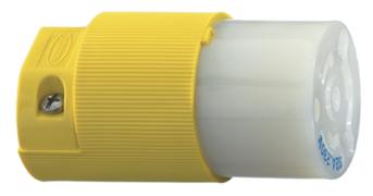 allpa NEMA-16A-Vervangingsconnector  16A / 230V  voor walstroomkabel  089316 / 17  kunststof