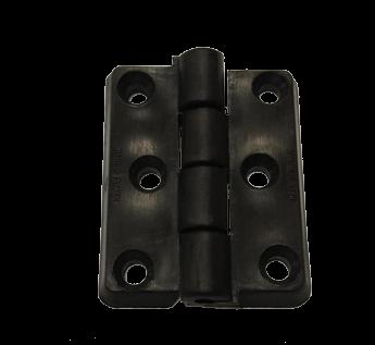 allpa Nylon scharnier 50x40mm zwart