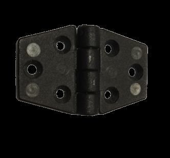 allpa Nylon scharnier 60x40mm zwart