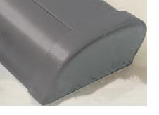allpa PVC eindkap  grijs