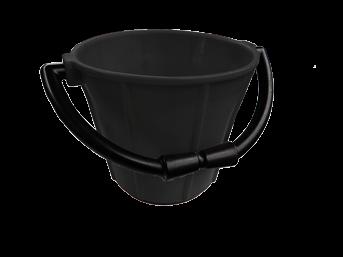 allpa PVC puts  zwart 7 5Ltr; met kunststof beugel en handgreep