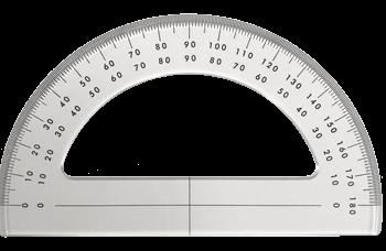allpa Plexiglas Goniometer 180°  L= 150mm