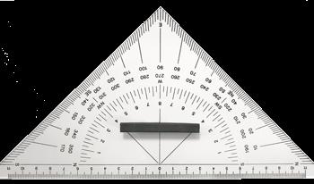allpa Plexiglas Navigatie 3-hoek  met handvat  L=250mm