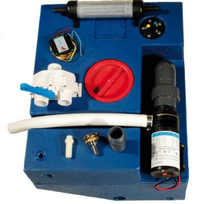allpa Polyethyleen vuilwatertankset met voorgemonteerde versnijdingspomp 12V 98l 1050x430x290mm