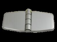 allpa RVS Afgedekt kastdeurscharnier   76 2x37x2mm