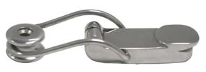allpa RVS Bakkist-spansluiting  met verende draadbeugel  A=94mm  B=28mm  C=13mm