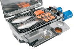 allpa RVS Barbecue voor 'campingaz - gasblikken' 700x360x250mm