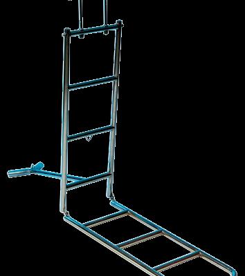 allpa RVS Boegzwemtrap 4-treden met opklapbare boegsteun & haken voor preekstoel buis Ø25mm