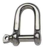 allpa RVS D-sluiting A=Ø5mm B=20mm C=10mm D=20mm (breekkracht 1200kg)
